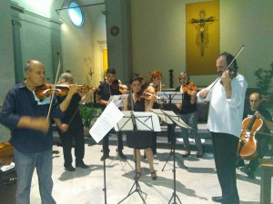 Faculty members an students in concert - 2016 Greve Opera Academy & Music Festival
