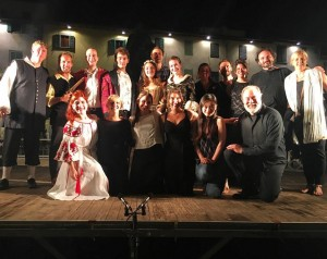 Photo after performance of Don Giovanni during the 2016 Greve Opera Festival